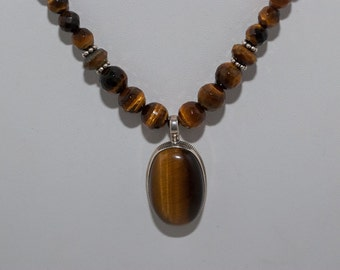 Tiger's Eye Autumn Splendor Pendant Necklace
