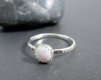 Galaxie bague en argent Sterling opale