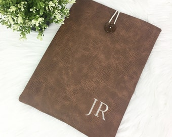 PERSONALISED Faux Leather Tablet Sleeve Case - iPad Mini, iPad Air, iPad Pro, Galaxy Tab A/ S2/ Pro S, Surface Pro/Book. All size available