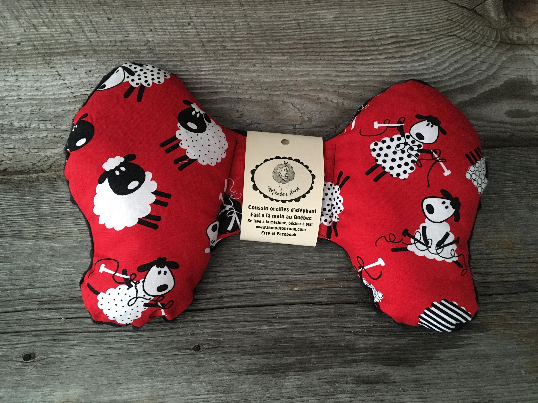 Pillow Elephant Ears Pillow Head Baby Sheep Red Minky Car