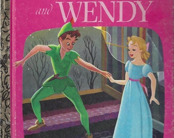 Vintage Walt Disney's Peter Pan and Wendy, Little Golden Book, Children's Book, C1980