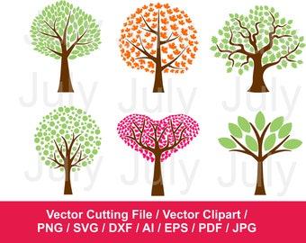 70 % OFF, Tree Svg, Tree Clipart, Tree Vinyl Decal, Tree Art Print, Tree Clip Art, Floral svg, Tree Cut File, dxf, png, jpg, eps, pdf