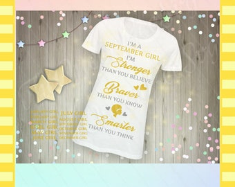 Woman birthday quote, woman tshirt quote, birthday quote, birthday bundle, woman shirt svg, quotes for women, stronger, braver, smarter