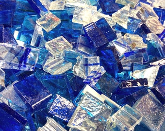 150 ARCTIC BLUE CRYSTAL - Stained Glass Mosaic Tiles Color Mix B48