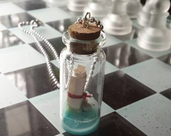 Message in a Bottle Pendant or Keychain