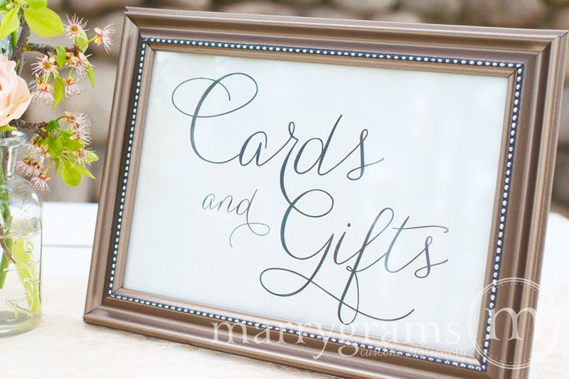 Cards And Gifts Table Sign Wedding Reception Seating
