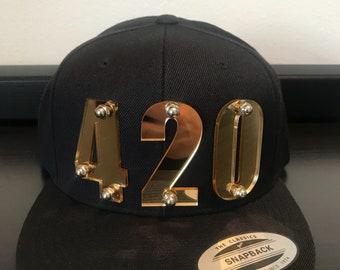 420 custom 3d laser cut snapback cap hat .                   LIMITED EDITION !!!