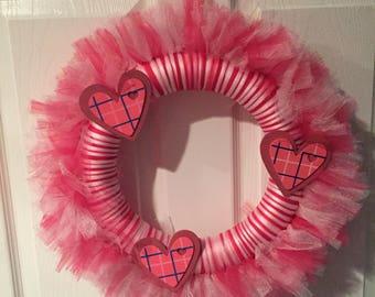 Valentine's Tulle Wreath