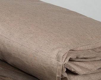Brown linen duvet cover, linen bedding, natural eco friendly bedding, natural fabric bedding