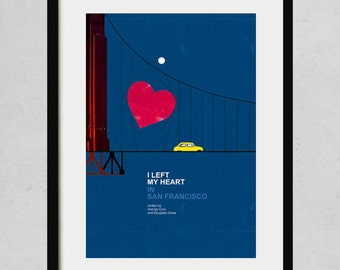 I left my heart in San Francisco - A3 art print- jazz music poster