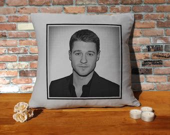 Ben McKenzie Pillow Cushion - 16x16in - Grey
