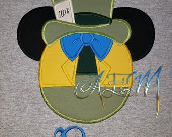 Personalized Mad Hatter Mousehead Shirt