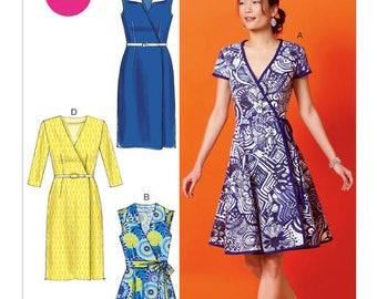 M6959 Mc call's wrap dress sewing pattern