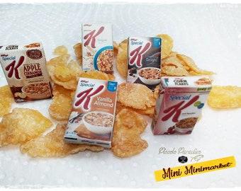 Italian Miniature Food, Handmade, confezioni a scelta di Kellogg's Corn Flakes in miniatura dolls house in scala 1;12