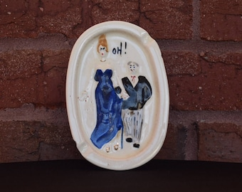 "Vintage ""OH!"" Ceramic Ashtray"