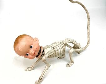 Skull mixed media art doll handmade