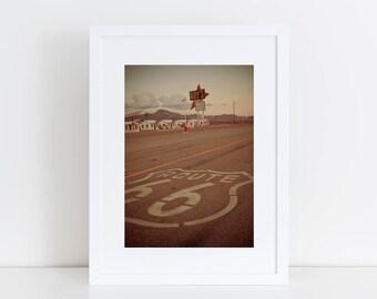 Route 66 Sign | California Desert Photography |  Neon Sign Print | Roy's Motel Sign | California Wall Art | Neon Sign Art | Road Trip Art