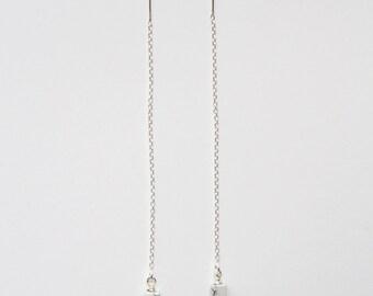 Sterling Silver Howlite Thread Earrings