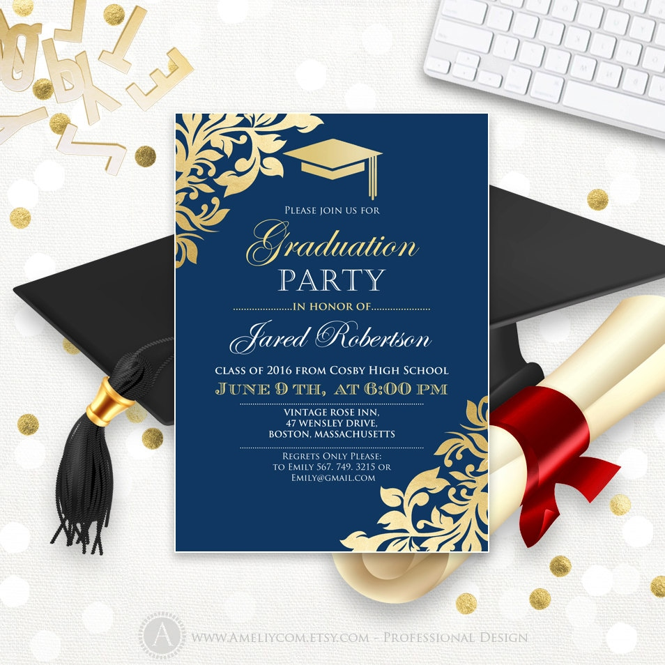 This is a picture of Exceptional College Graduation Announcements Templates