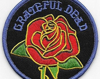 """Grateful Dead Rose Iron On Patch 3"""" Free Shipping Officially Licensed by C&D Visionary P-1300"""