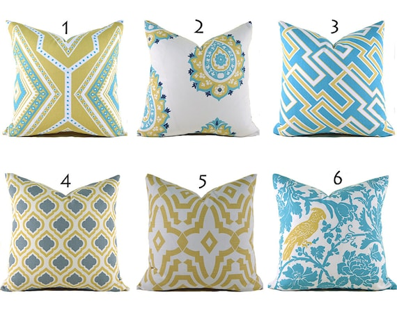 Items Similar To Yellow Pillow Covers ANY SIZE Decorative