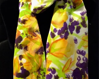 Tulips and Crocuses silk scarf