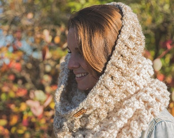 Oversize cowl/ Choice of colors/ Hooded scarf Halifax