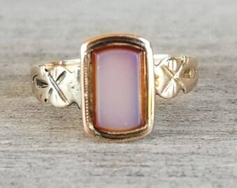 RESERVED Victorian sardonyx signet ring
