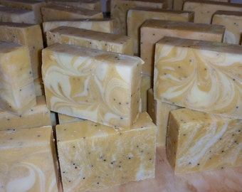 Lemon & Poppy Seed Hand Made Soap