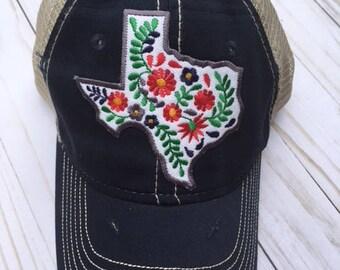 Texas Floral trucker cap