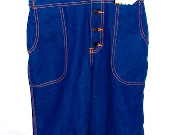 Vintage 1970s Deadstock L.A. Overalls Co. Denim Overalls. XS/S