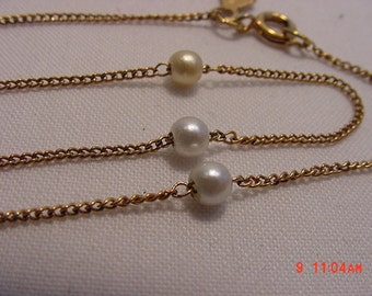 Vintage Sarah Coventry Faux Pearl Necklace In Original Box   16 - 464