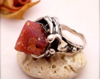 Pink Spinel Ring Rose Salvaje Sterling Silver