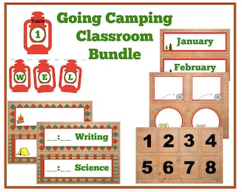 Going Camping classroom bundle
