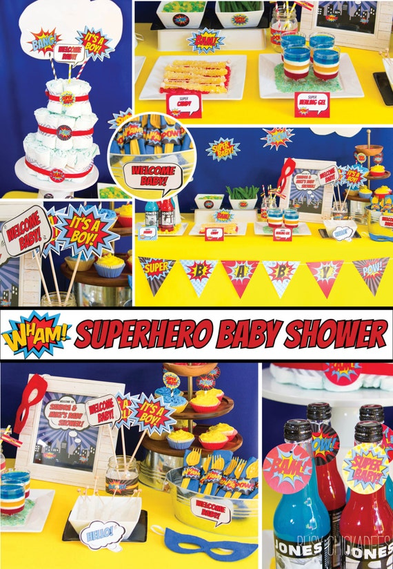 Delightful Superhero Baby Shower Decorations Superhero Shower Baby
