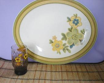 Large Serving Platter, Large Platter,  Ceramic Serving Platter,  Noritake China, Noritake Platter, Vintage Dishes