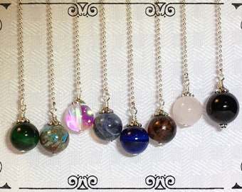 You choose! Handcrafted Semi Precious Gemstones Ceiling Fan Pull