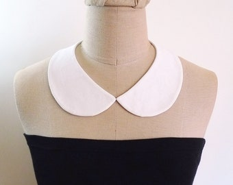 Peter Pan Collar Detachable Collar, white collar necklace, fabric collar necklace