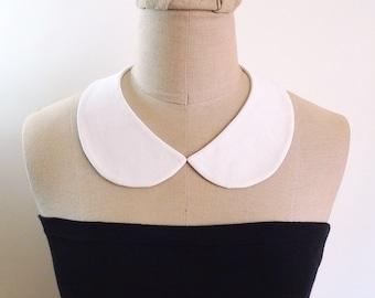 Peter Pan Collar Detachable Collar, white collar necklace, fabric collar necklace