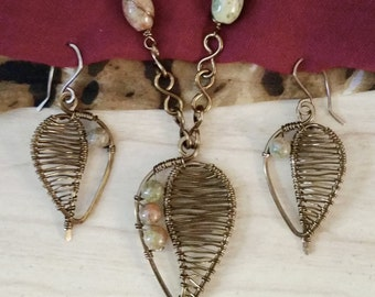 Leaf Jewelry Set