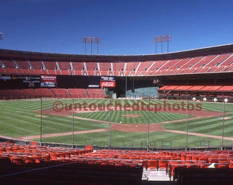 Candlestick Park Photograph before San Francisco Giants Game taken in 1988