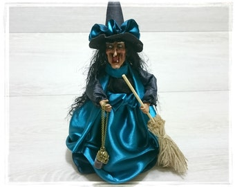 Kitchen Witch, Horror decor, Witch Doll, Witch decor, Kitchen witch doll, Halloween witch doll, Farmhouse witch, Magic Hag with blood skull