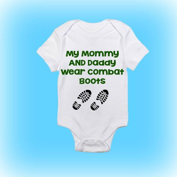 combat boots onesie174 my mommy and daddy wear combat boots