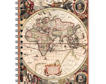 World map notebook etsy vintage notebook a6 old world map gumiabroncs