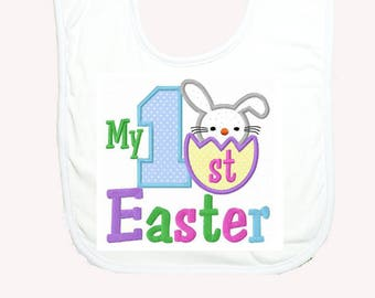Baby easter gift etsy custom personalized easter baby bib cute baby bib 1st easter gift easter gift negle Image collections