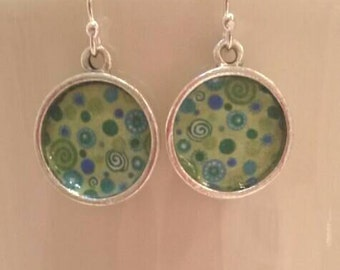 Spring Green Dangly Earrings
