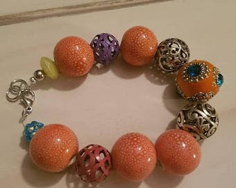 Sale Sale Sale Colourful bracelet with lobster clasp v2