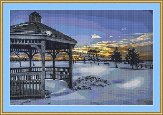 Snow All Around Cross Stitch Pattern /Digital PDF Files /Instant downloadable