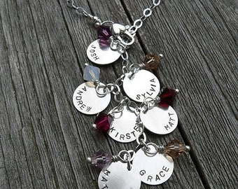 LIMITED TIME SALE Cascade Mothers or Family Necklace