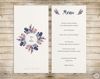 Feather - Menu - wedding invitation collection